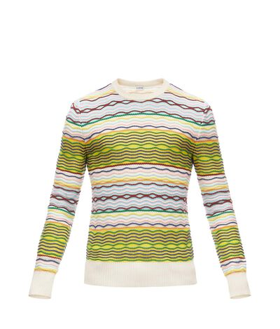 LOEWE Stripe Sweater Multicolor front