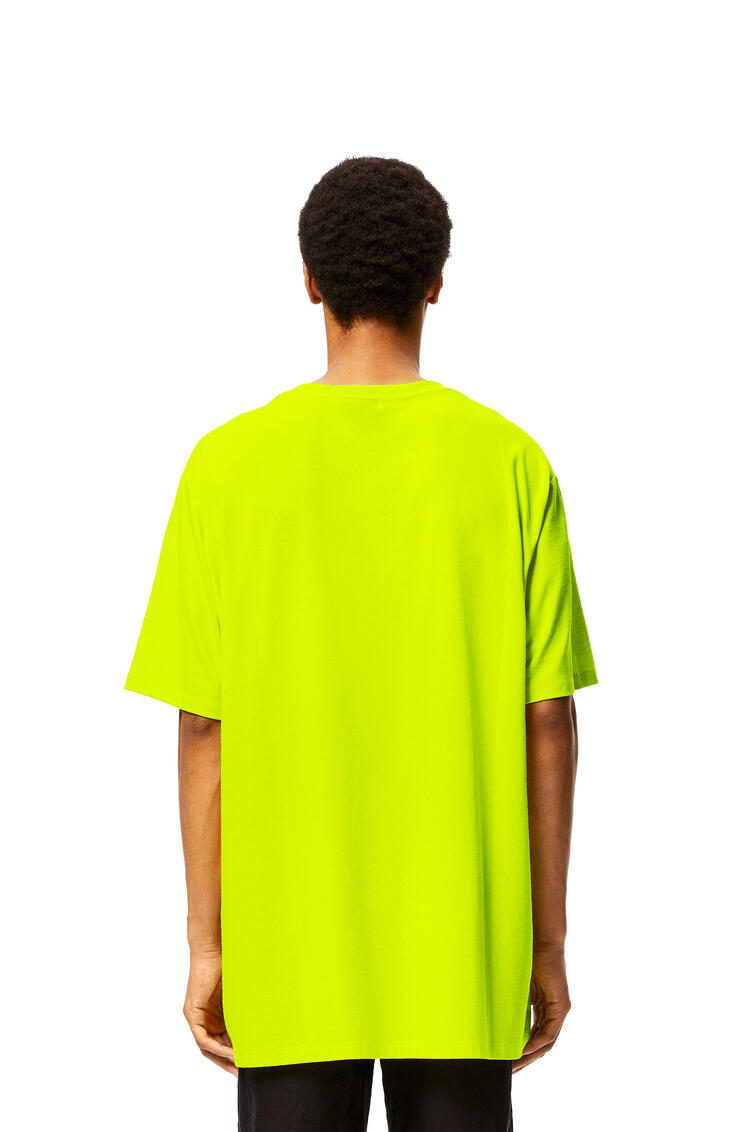 LOEWE Oversize Smiley T-shirt in cotton and polyester 螢光黃 pdp_rd
