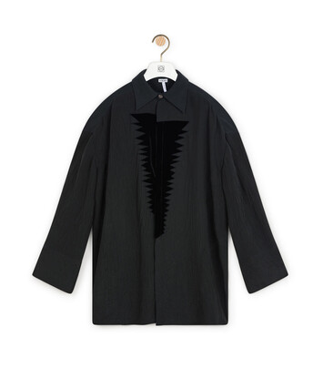 LOEWE Velvet Patch Blouse Black front