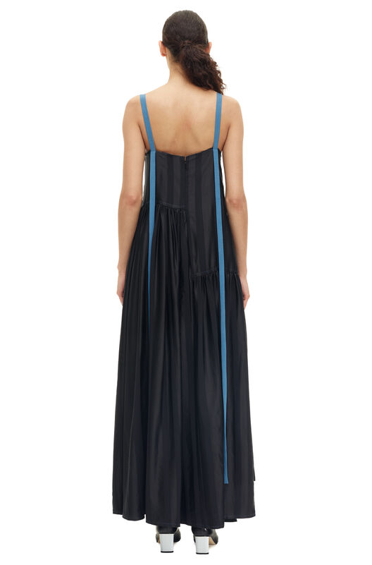 LOEWE Camisole Dress Blue Trims Negro/Azul all
