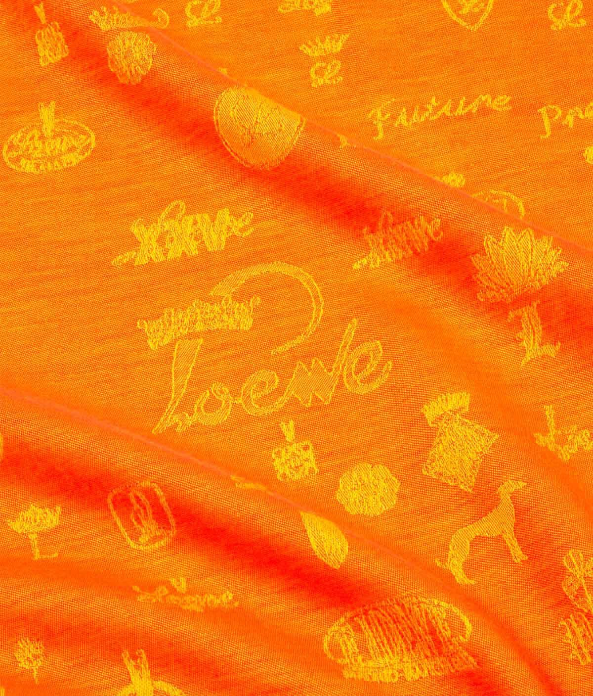LOEWE 140X140 Scarf Logos 橙色 all