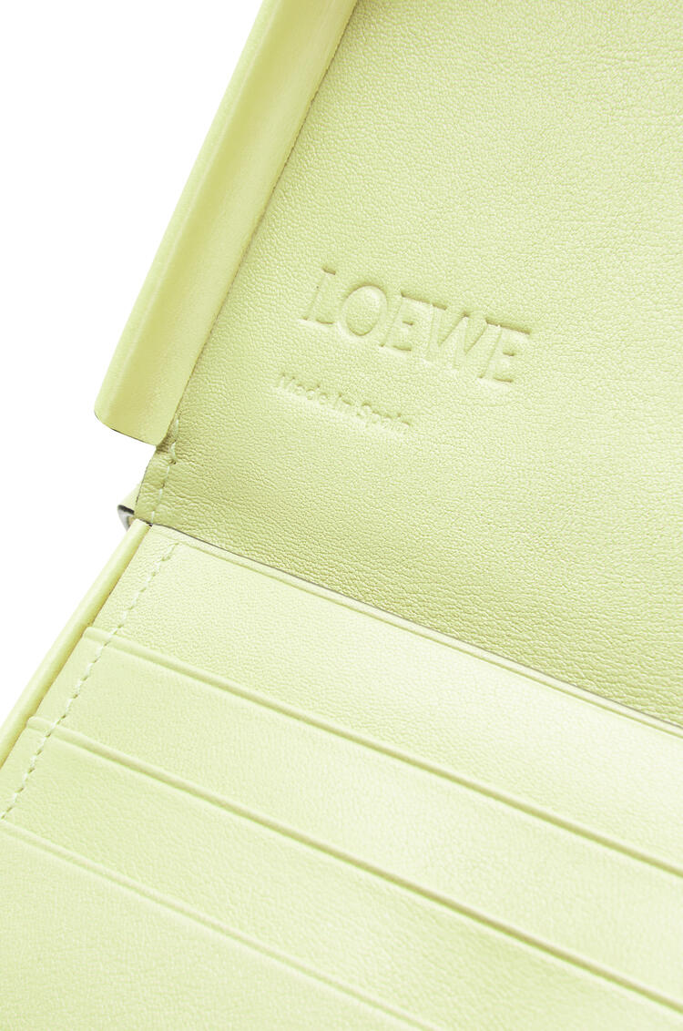 LOEWE Small Heel pouch in soft calfskin Pale Lime pdp_rd