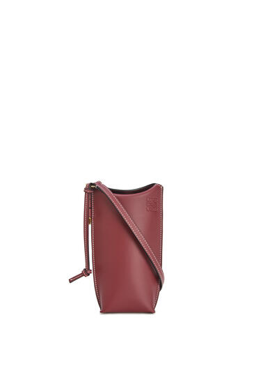 LOEWE Gate Pocket In Soft Calfskin Wine pdp_rd