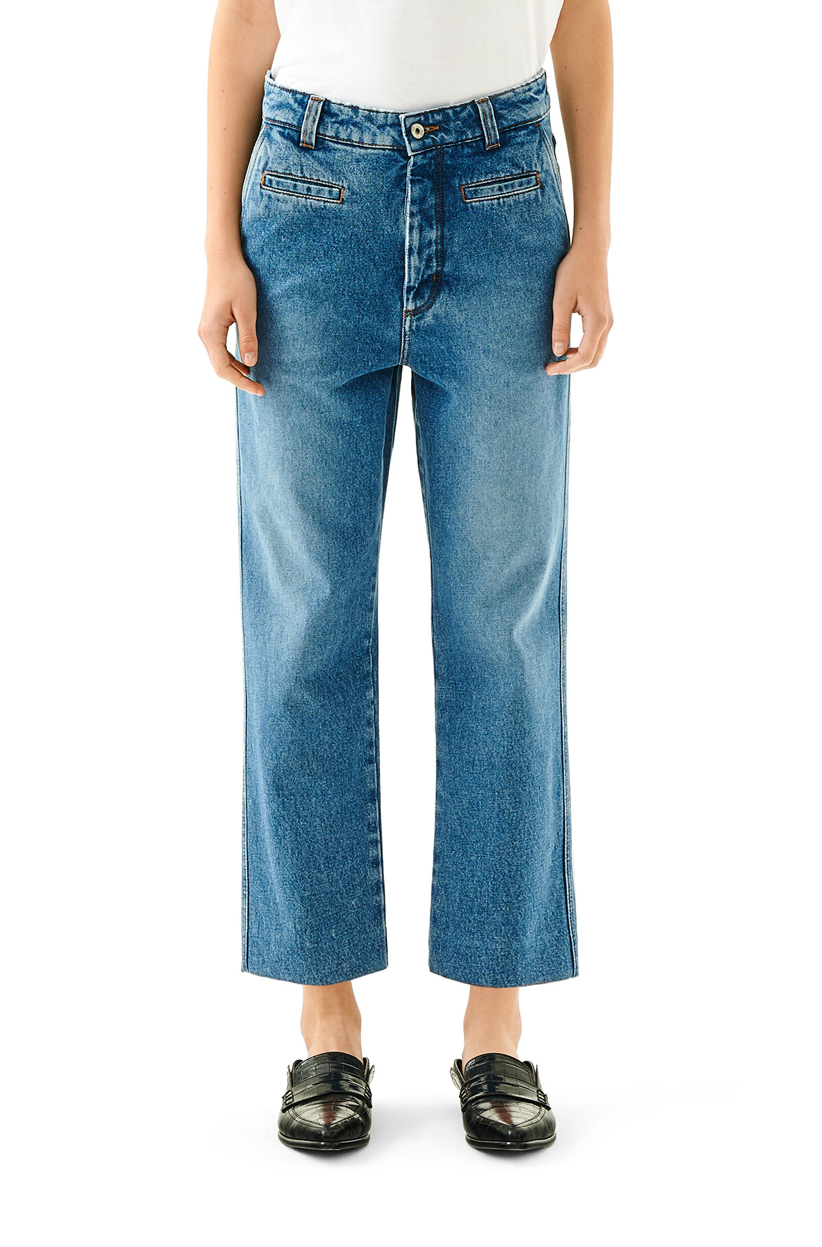 LOEWE Fisherman Jeans Washed Denim front