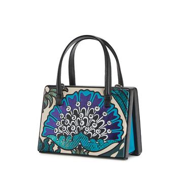 LOEWE Postal Floral Small Bag Peacock Blue front