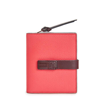 LOEWE Compact zip wallet in soft grained calfskin Poppy Pink pdp_rd