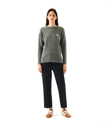 LOEWE Anagram Sweater 灰色 front