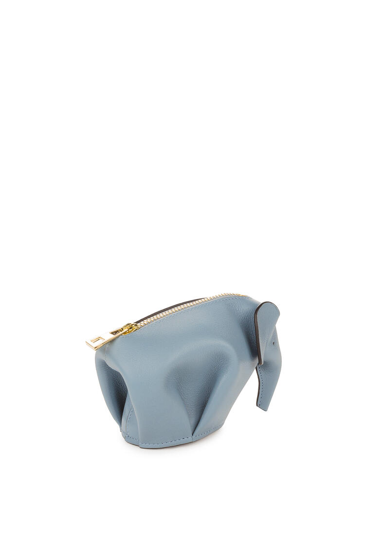 LOEWE Elephant charm in smooth calfskin Stone Blue pdp_rd
