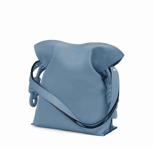 LOEWE Flamenco Knot Bag 灰蓝色 front
