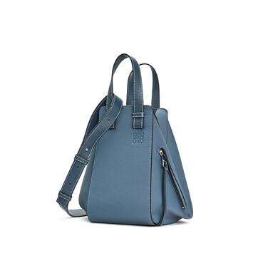 LOEWE Hammock Small Bag Steel Blue front