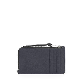 LOEWE Coin/Card Holder Large Midnight Blue/Black front