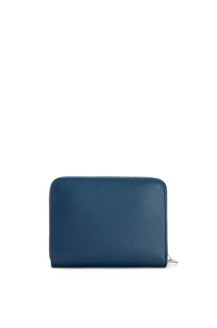 LOEWE 6 Card Zip Wallet In Smooth Calfskin Indigo pdp_rd