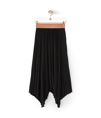 LOEWE Pleated Skirt Black/Tan front