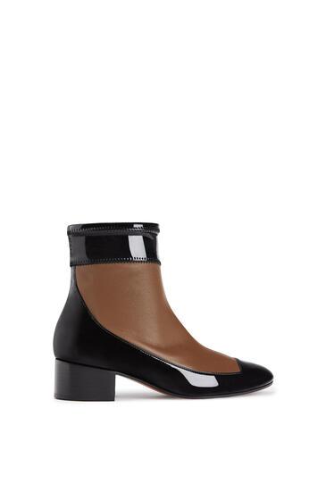 LOEWE Stretch ankle boot 40 in lambskin and calfskin Khaki Green/Black pdp_rd