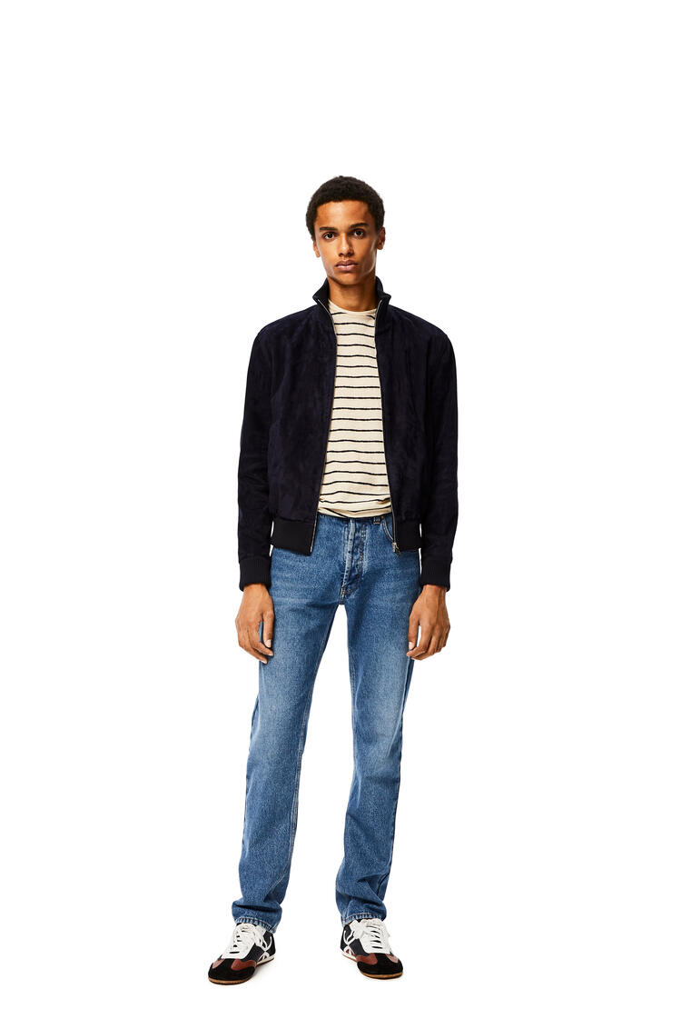 LOEWE Tapered jeans in cotton 藍色 pdp_rd