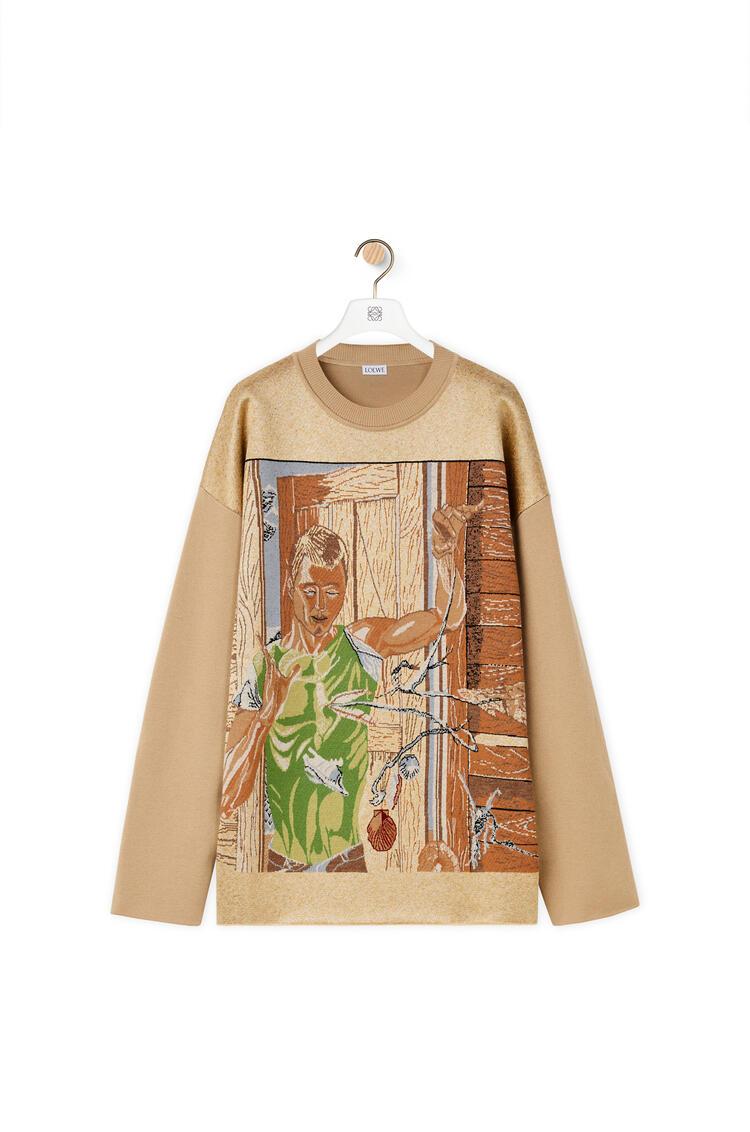 LOEWE Jacquard sweater in wool Beige pdp_rd