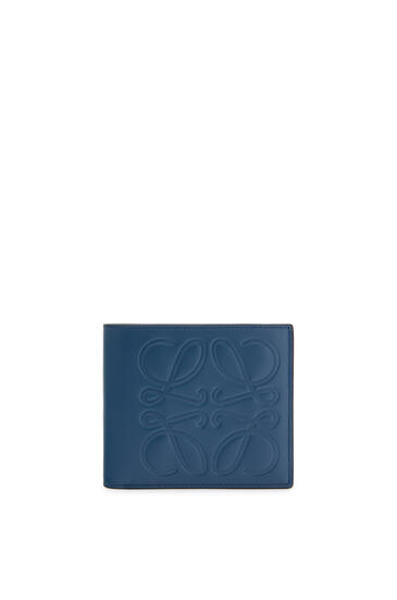 LOEWE Bifold wallet in smooth calfskin Indigo pdp_rd