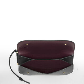 LOEWE Gate Continental Wallet Black/Oxblood front