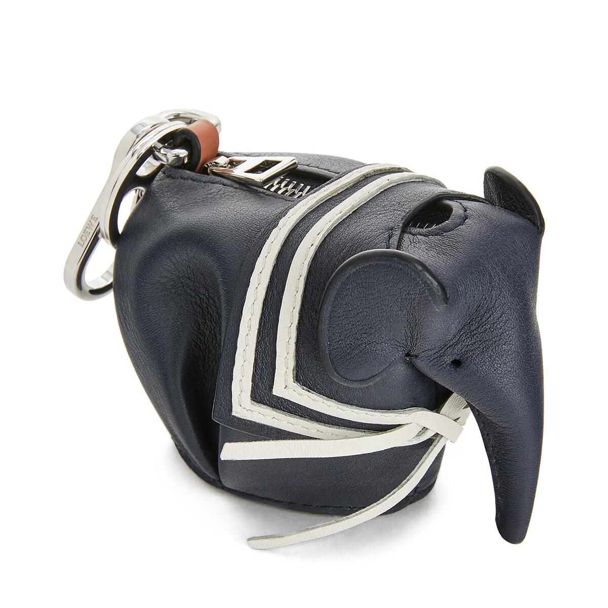LOEWE Elephant Sailor Charm Deep Blue front