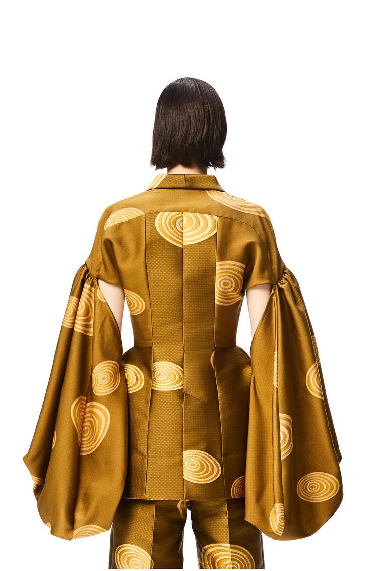 LOEWE Spiral jacquard balloon sleeve jacket Gold pdp_rd
