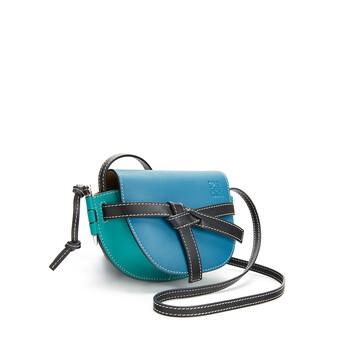 LOEWE Gate Multicolor Mini Bag Dark Lagoon/Emerald front