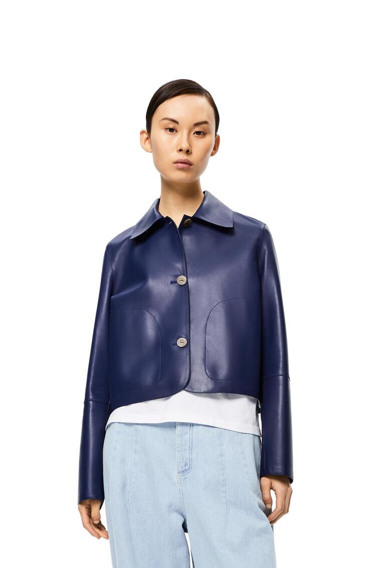 LOEWE Button jacket in nappa Blue/Dark Navy Blue pdp_rd