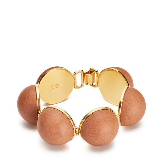 LOEWE Mini Globe Bracelet Tan front