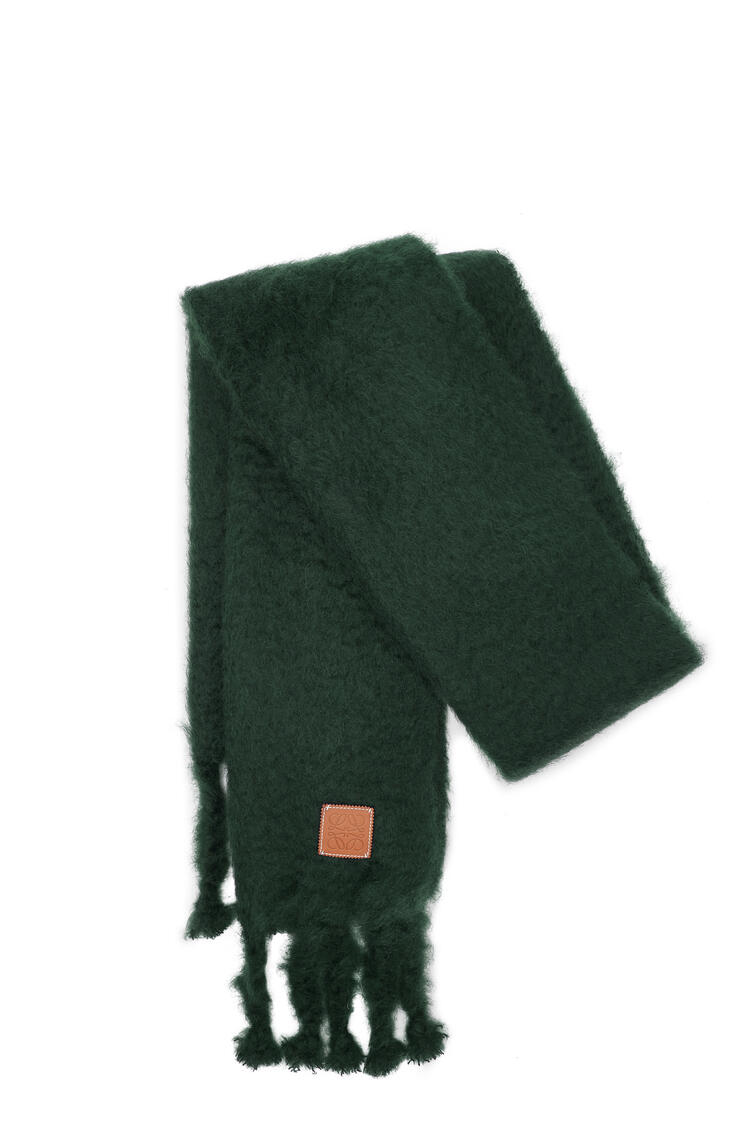 LOEWE 45 cm x 230 cm Scarf in mohair and wool Dark Green pdp_rd