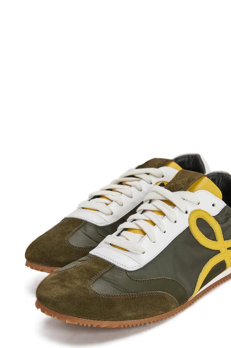 LOEWE Ballet runner in lambskin Khaki Green/Yellow pdp_rd