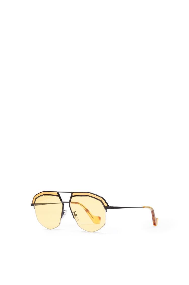 LOEWE Geometrical Sunglasses Matte Black/Yellow pdp_rd