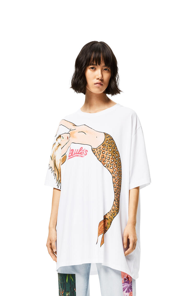LOEWE Oversize T-shirt in mermaid cotton White pdp_rd