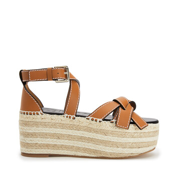 LOEWE Gate Wedge Espadrille ライトキャラメル front