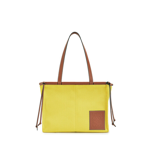 LOEWE Bolso Cushion Tote Pequeño Amarillo front