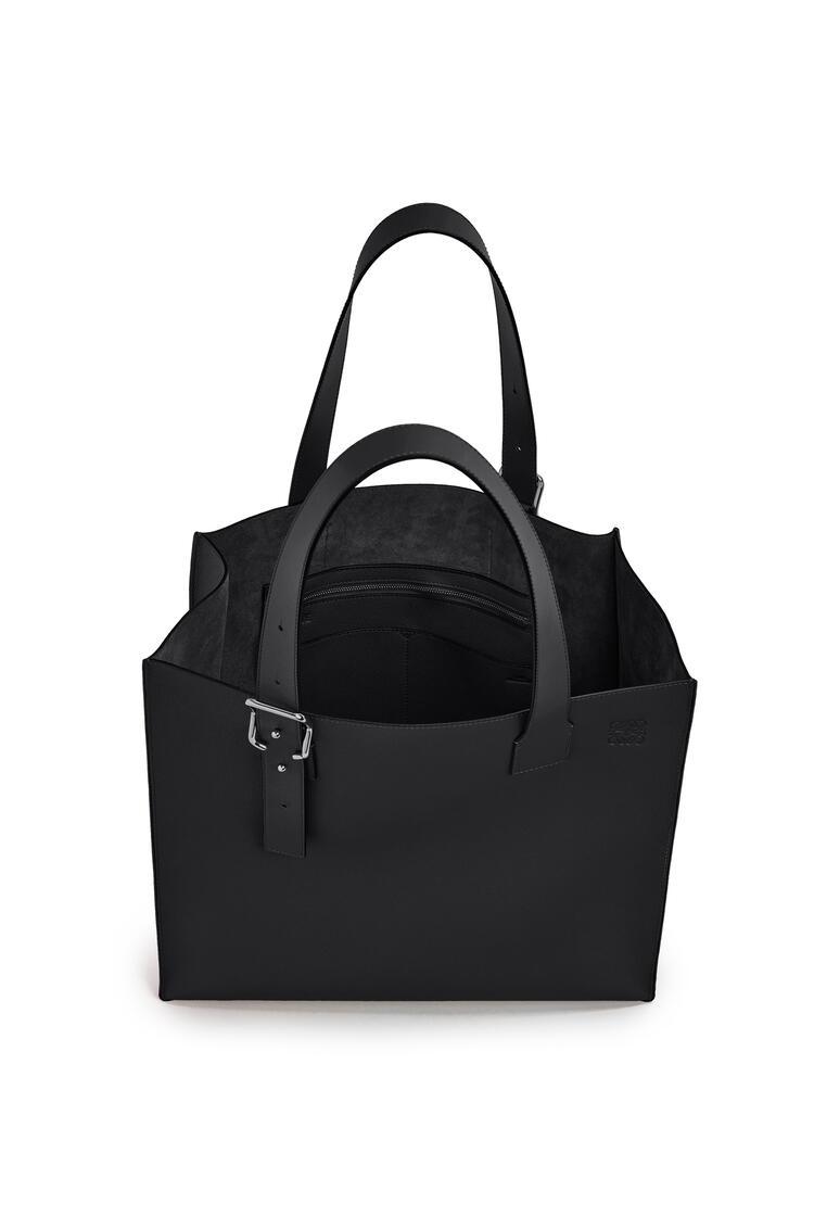 LOEWE Buckle tote bag in soft grained calfskin Black pdp_rd