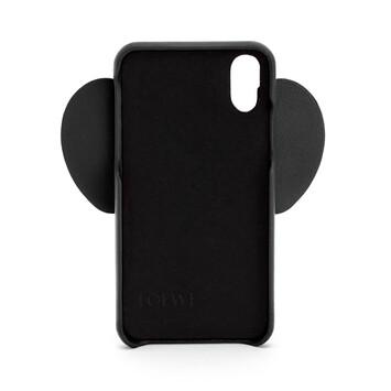 LOEWE iPhone XS Max用 エレファント カバー ブラック front