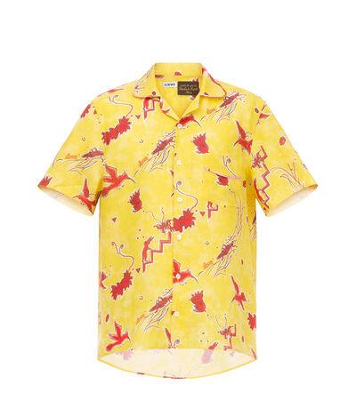 LOEWE Pyjama Shirt Paula Birds Yellow/Red front