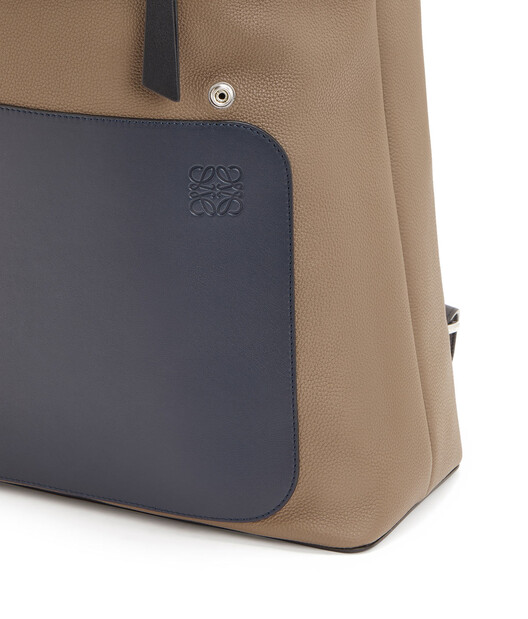 LOEWE Goya Backpack Deep Blue/Dark Taupe front