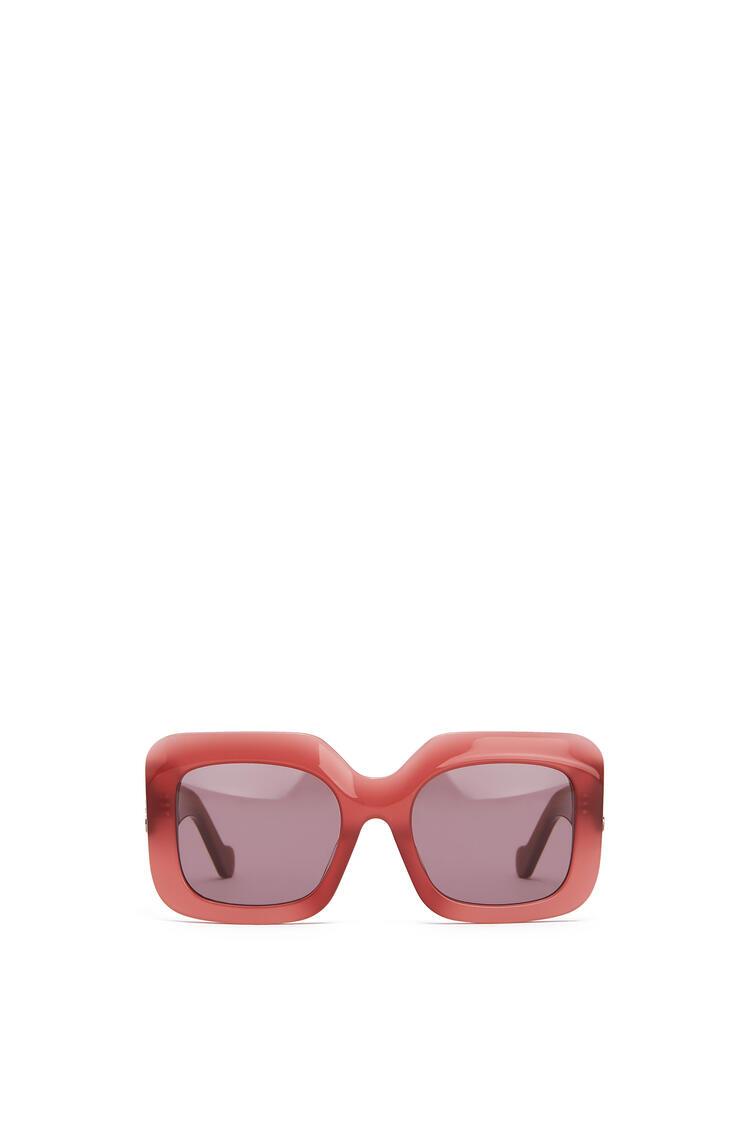 LOEWE アセテート レクタンギュラー サングラス strawberry pdp_rd