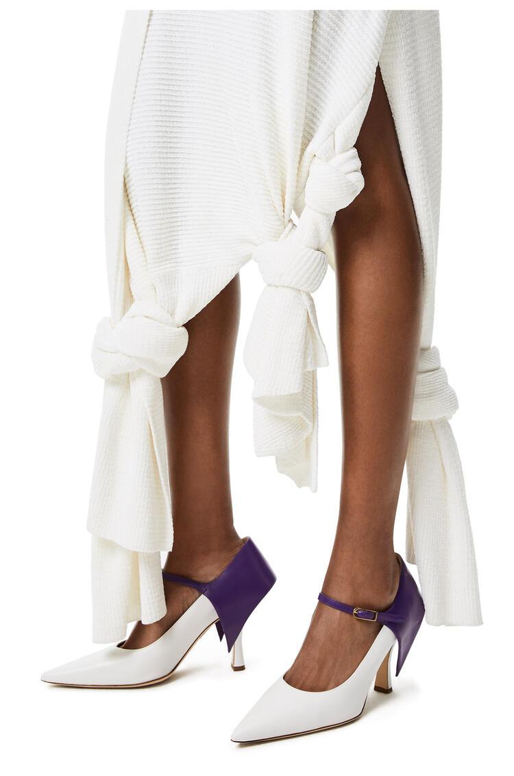 LOEWE Knot knit skirt Soft White pdp_rd