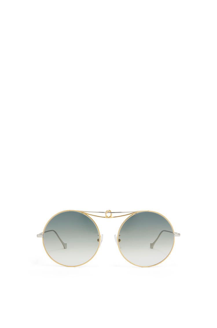 LOEWE Metal Knot round sunglasses Gold/Blue pdp_rd