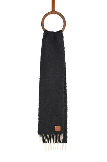 LOEWE 23X185 Mohair Scarf Negro front