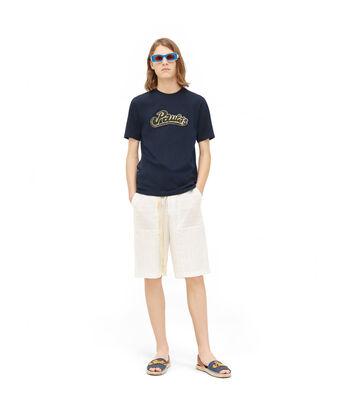 LOEWE Paula T-Shirt 海军蓝 front
