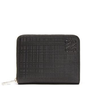 LOEWE Zip 6 Card Holder Black/Yellow front