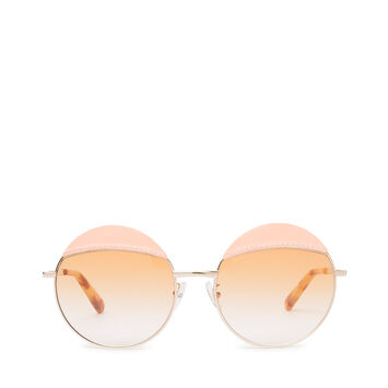LOEWE Round Sticth Sunglasses Pink/Gradient Yellow front