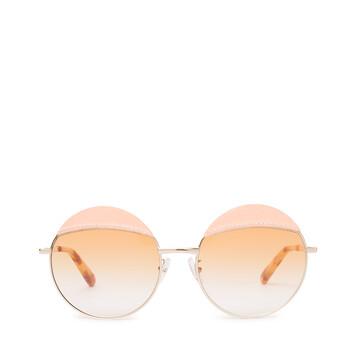 LOEWE Gafas Redondas Pespunte Rosa/Amarillo Degradado front