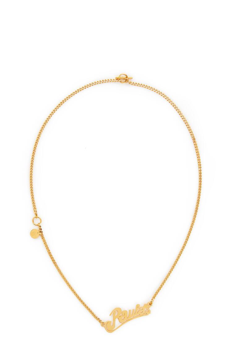 LOEWE Collar Paula's en metal Oro pdp_rd
