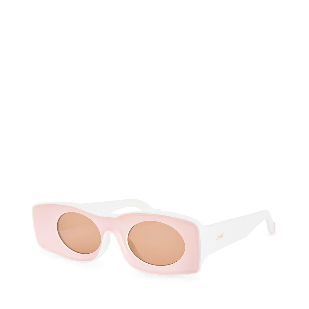 LOEWE Paula Sunglasses Pink/White front
