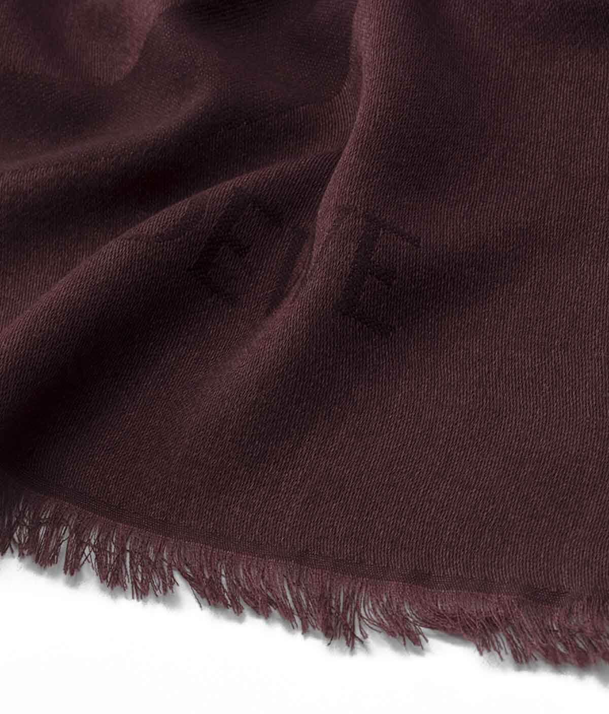 LOEWE 140X140 Scarf Giant Anagram Rojo Oscuro all