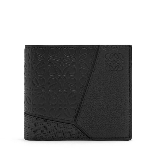 LOEWE Puzzle Bifold Coin Wallet 黑色 front
