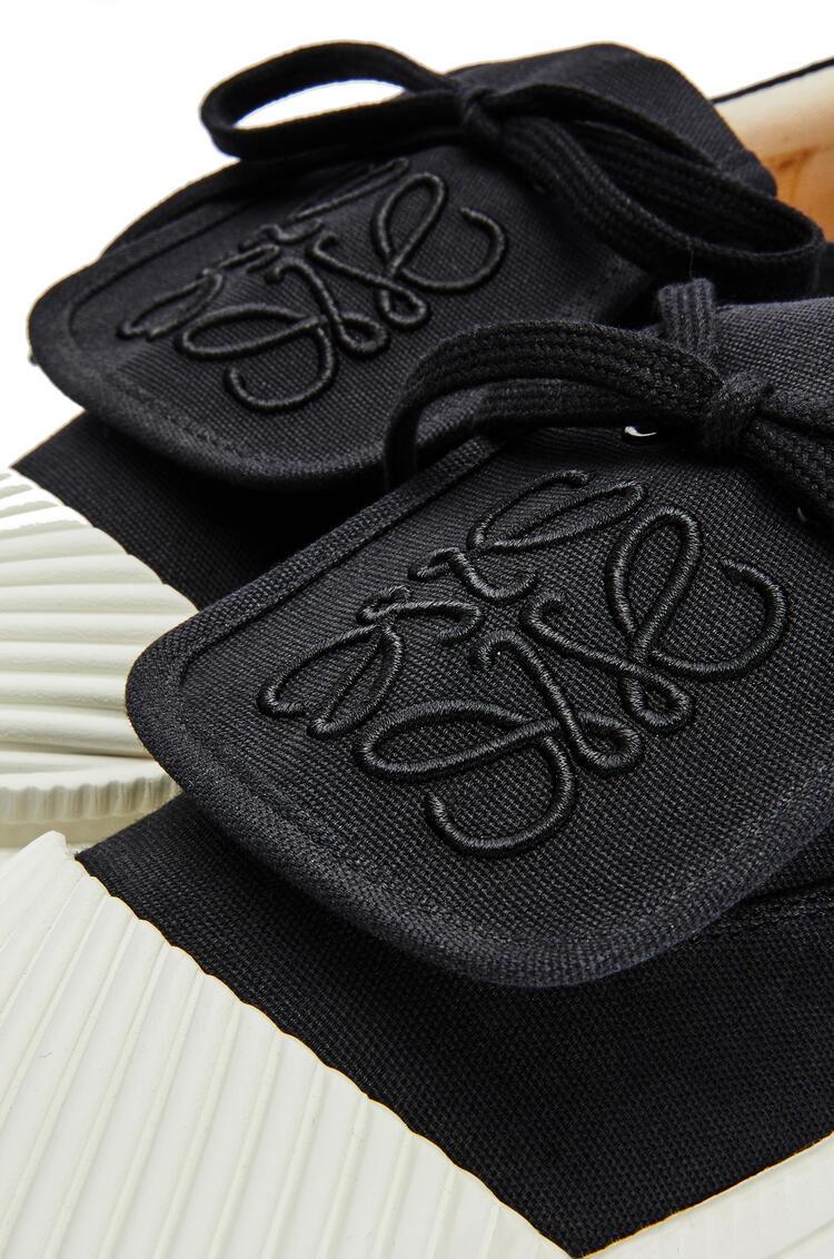 LOEWE Anagram flap sneaker in canvas Black pdp_rd